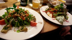 Salads at Le Pain Quotidien