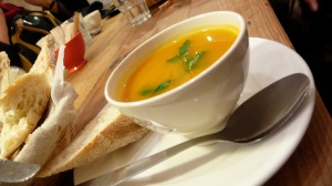 Soup at Le Pain Quotidien